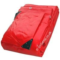 Heavy Duty Red Tarpaulins   machinery, roofs, industrial purposes.